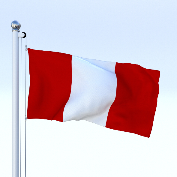 Animated Peru Flag - 3DOcean Item for Sale