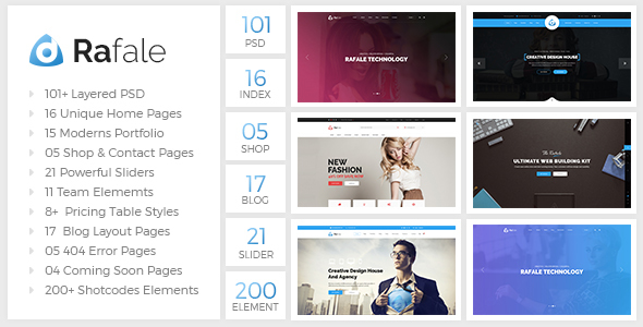 Rafale – Multipurpose PSD Template