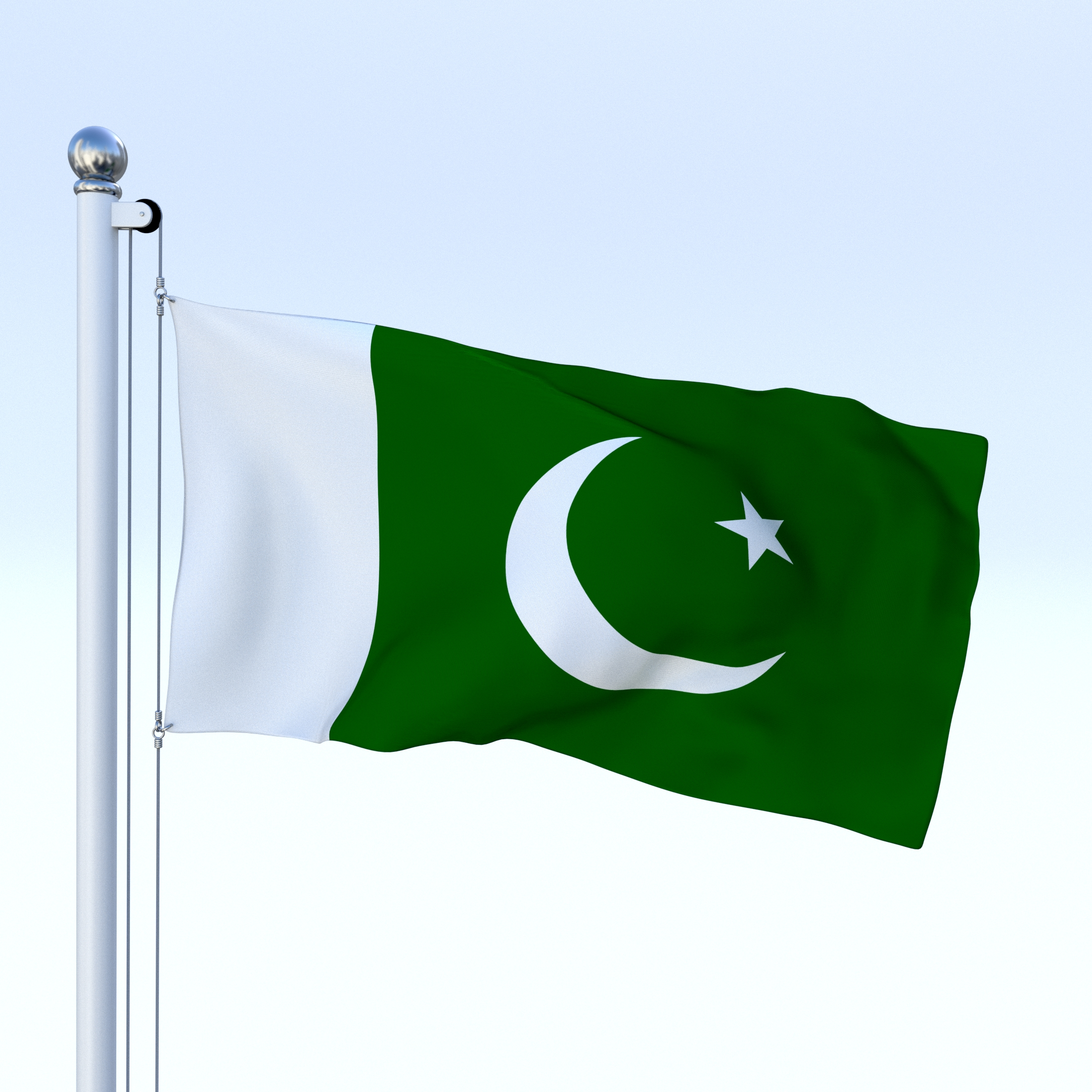 Animated Pakistan Flag By Dragosburian 3docean