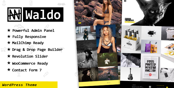 Waldo – Creative Portfolio & WooCommerce WordPress Theme
