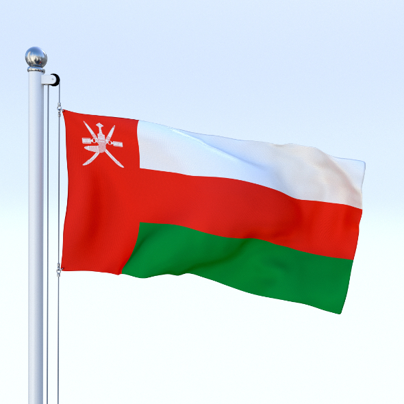 Animated Oman Flag - 3DOcean Item for Sale