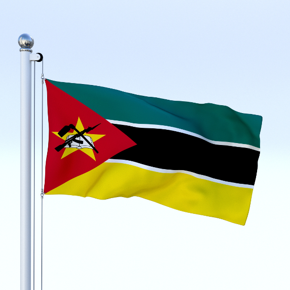 Animated Mozambique Flag - 3DOcean Item for Sale