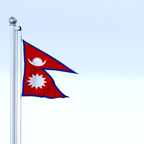 Animated Nepal Flag - 3DOcean Item for Sale