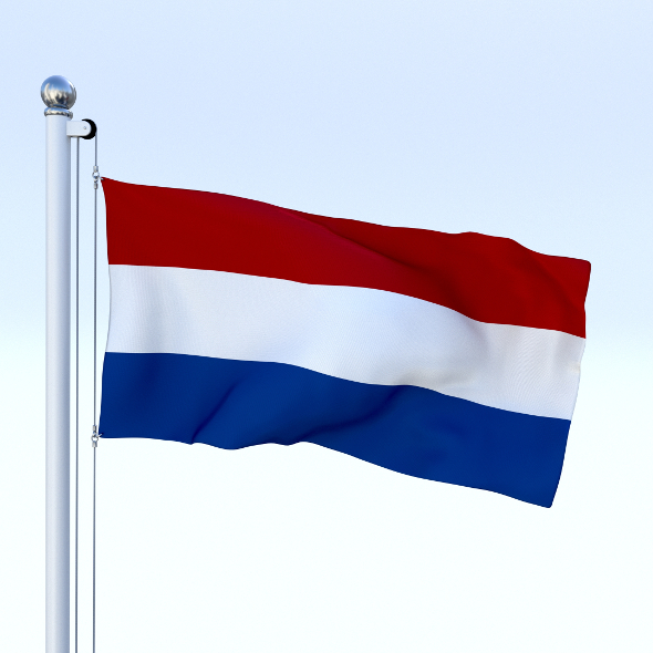 Animated Nederlands Flag - 3DOcean Item for Sale