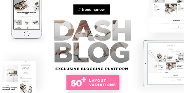 DashBlog – Exclusive & Simple Personal WordPress Blogging Theme