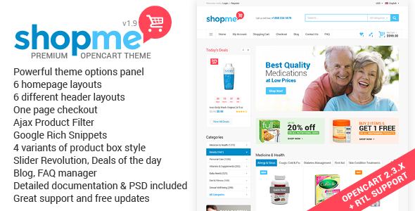 ShopMe - Multipurpose Opencart Theme
