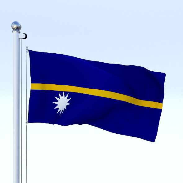 Animated Nauru Flag - 3DOcean Item for Sale