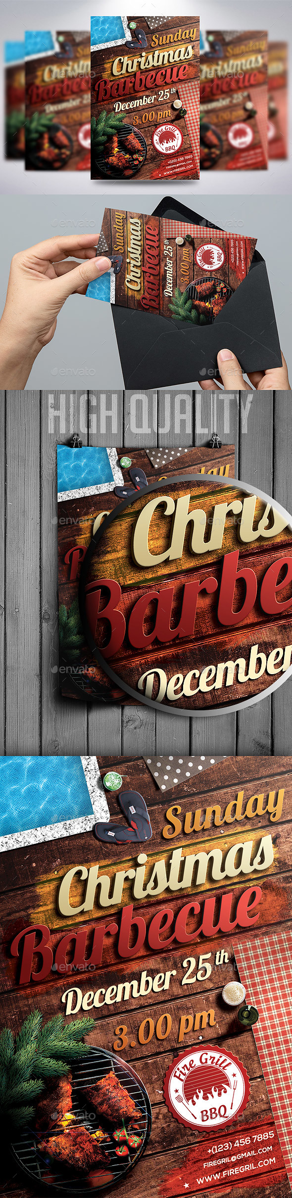 Christmas BBQ Flyer - Holidays Events