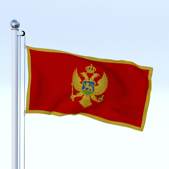 Animated Montenegro Flag - 3DOcean Item for Sale