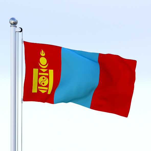 Animated Mongolia Flag - 3DOcean Item for Sale