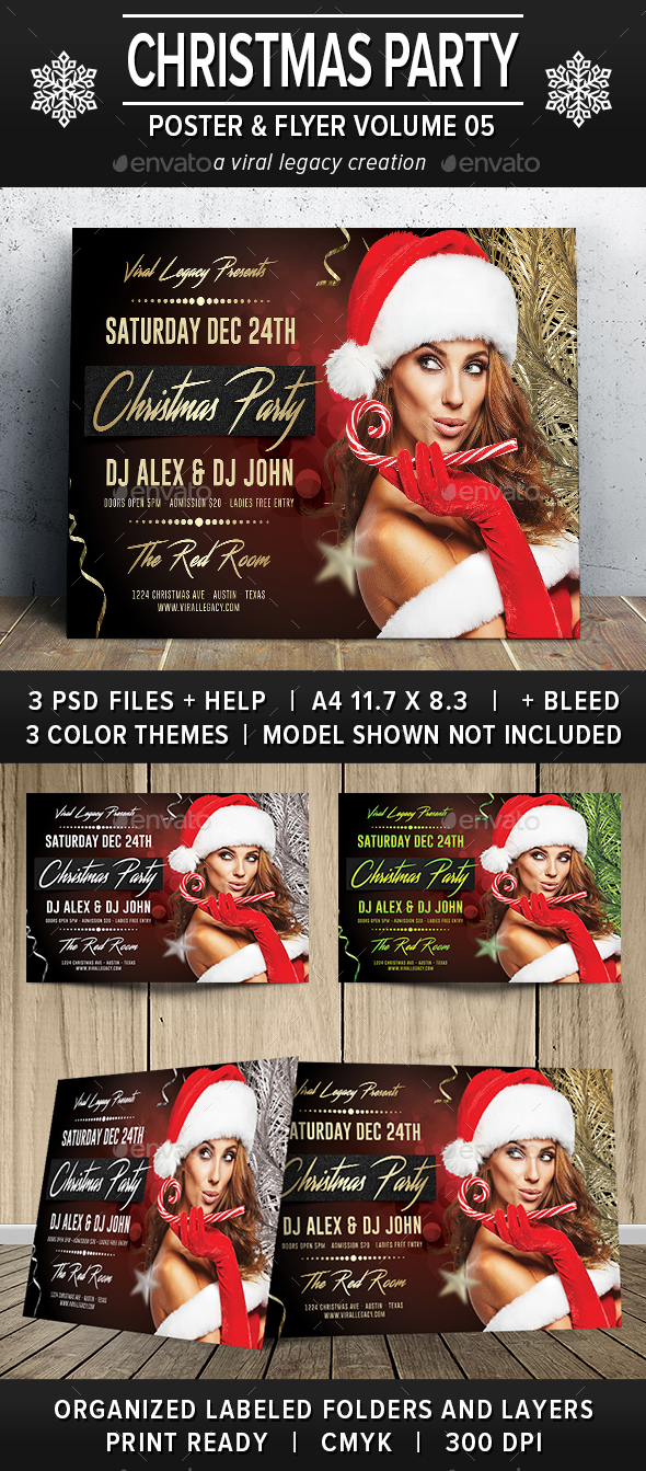Christmas Party Poster / Flyer V05 - Flyers Print Templates