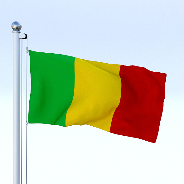 Animated Mali Flag - 3DOcean Item for Sale