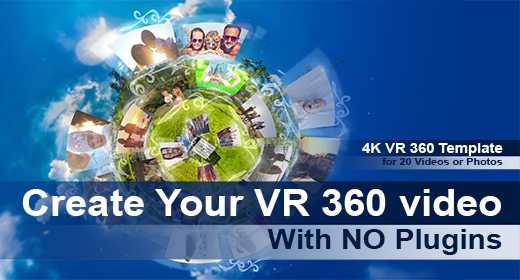 happy video for VR 360 Template