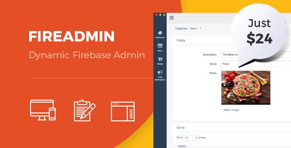 FireAdmin - Firebase dynamic admin panel - CodeCanyon Item for Sale
