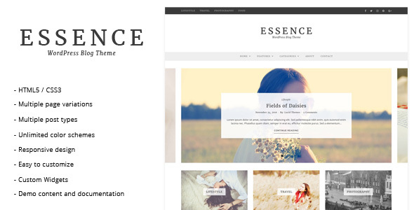 Essence - WordPress Blog Theme