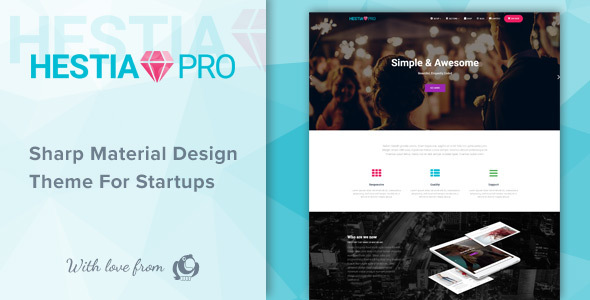 Hestia Pro – Sharp Material Design Theme For Startups