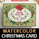 Watercolor Floral Christmas Postcards - GraphicRiver Item for Sale