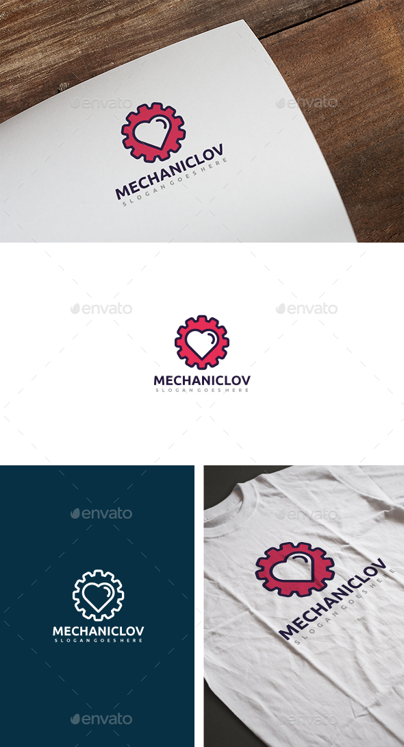 Mechanic Love Logo - Symbols Logo Templates