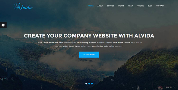 Alvida – One Page Business Template