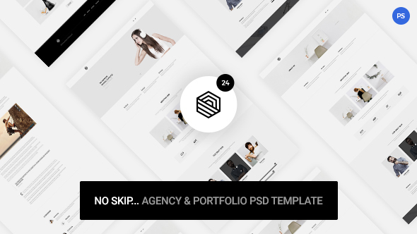 No Skip – Creative Agency & Portfolio PSD Template