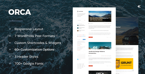 Orca - Responsive WordPress Blog Theme - Personal Blog / Magazine