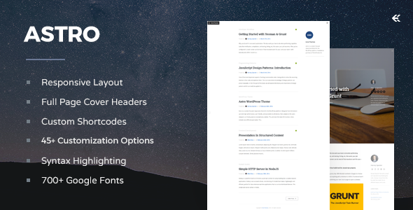 Astro - Responsive WordPress Blog Theme