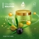 Realistic Collagen Cream Bottle on Green - GraphicRiver Item for Sale