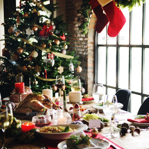 Family Together Christmas Celebration Concept - Stock Photo - Images