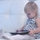 Baby Using Digital Tablet at Home - VideoHive Item for Sale