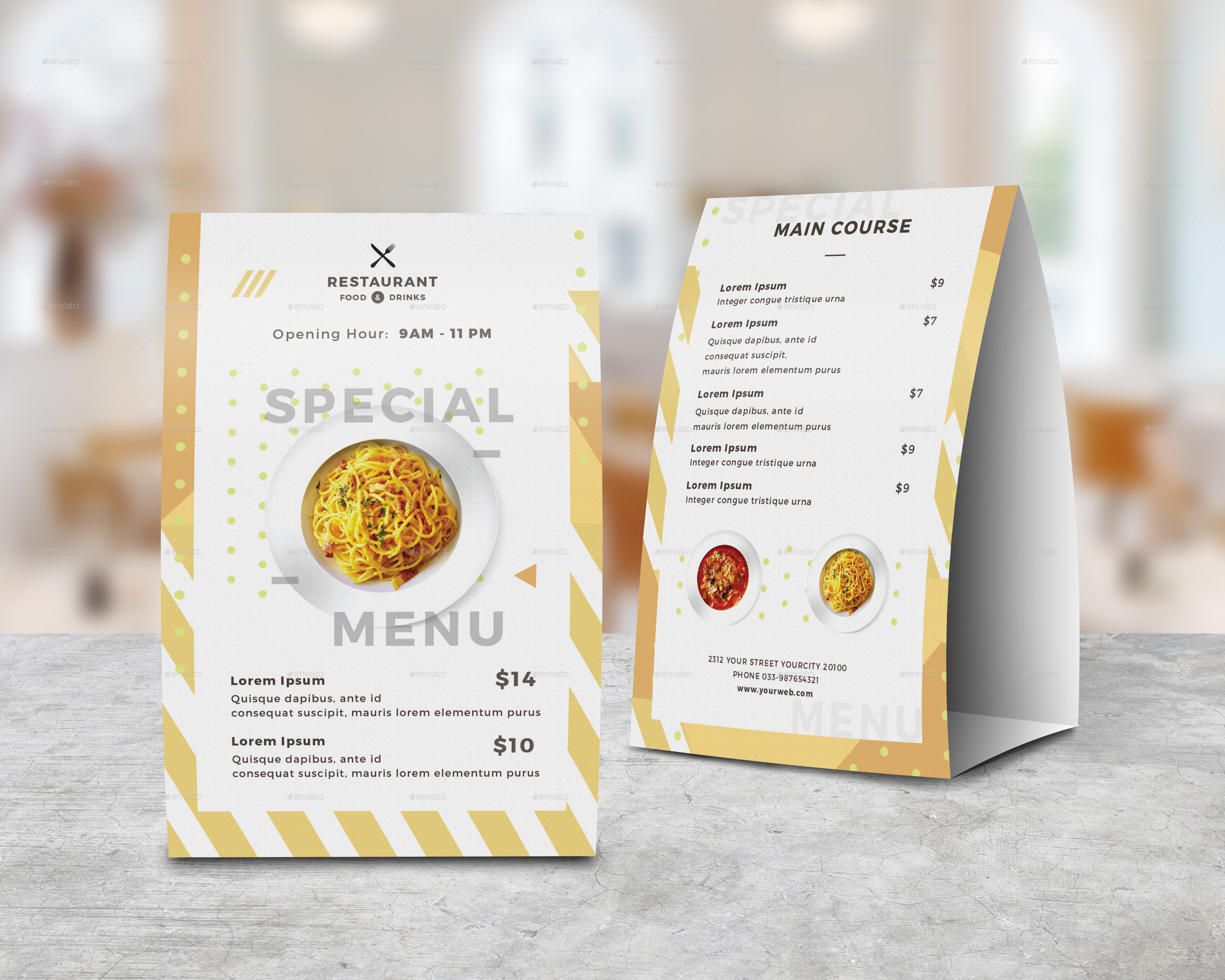 ... Images Set/Table Tent Vol.03 1 RENDER.jpg & Food Menu Bundle by infinite78910 | GraphicRiver