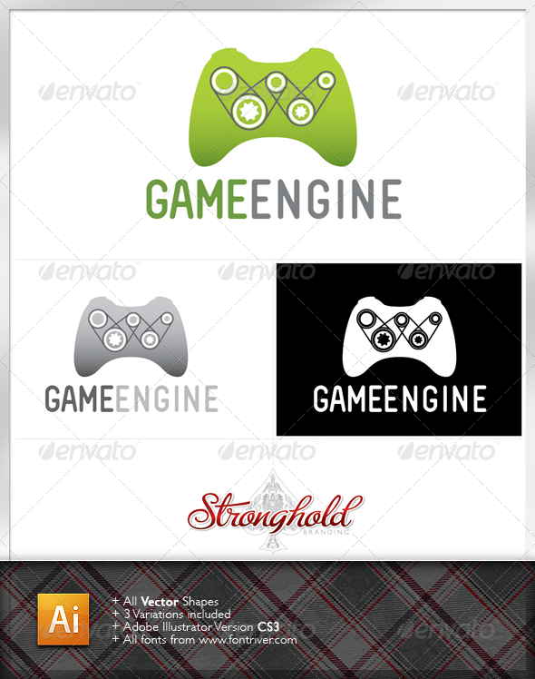Game Engine Logo Template - Objects Logo Templates