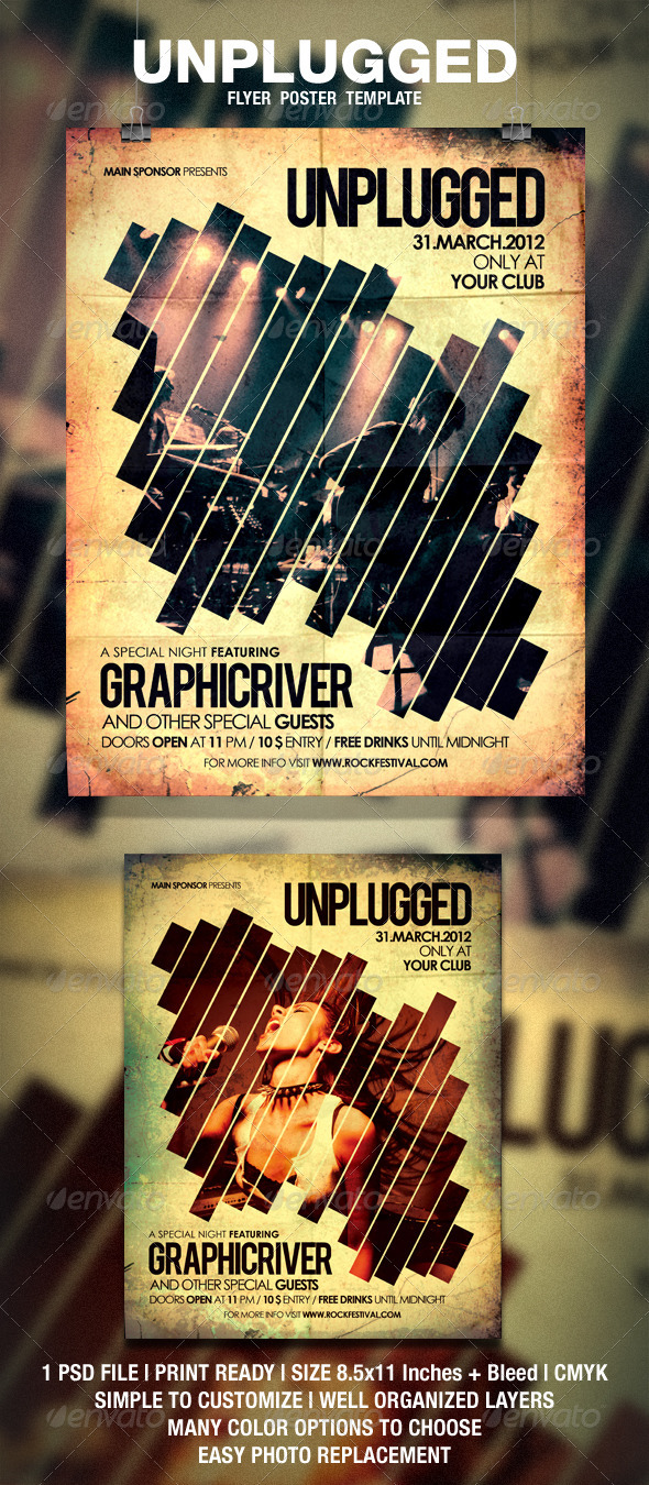 Unplugged Flyer / Poster - Events Flyers