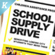School Supply Drive Flyer Templates - GraphicRiver Item for Sale