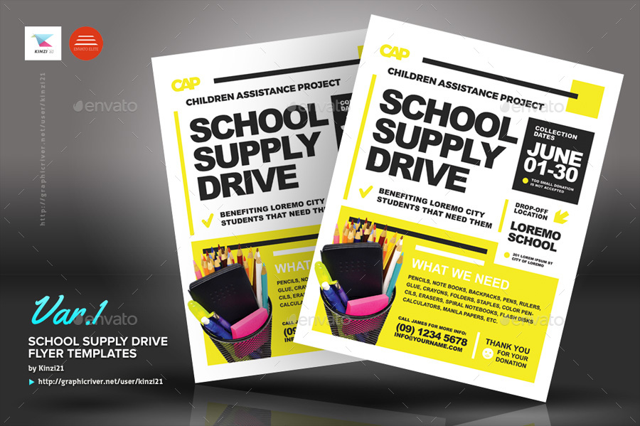 donation drive flyer template