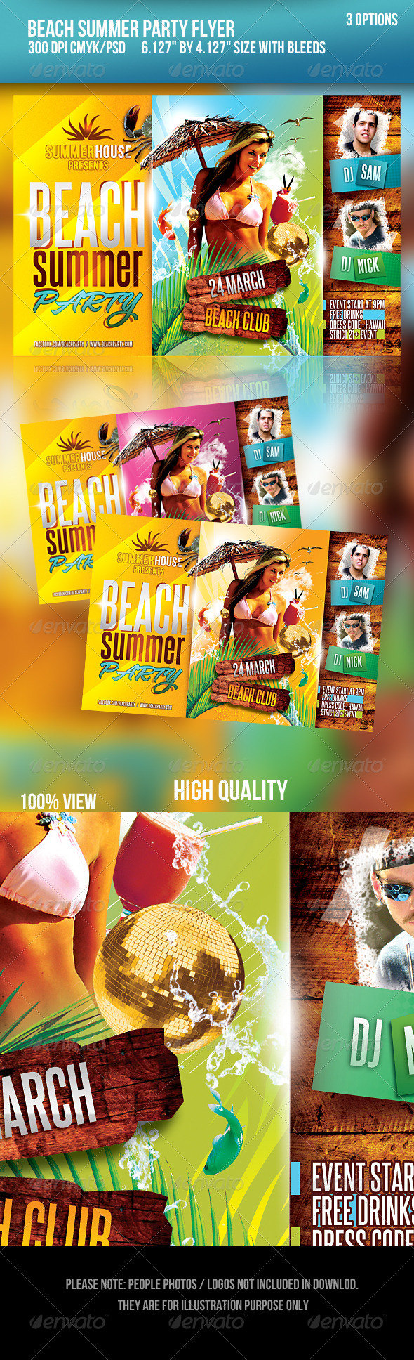 Beach Summer Party Flyer - Flyers Print Templates