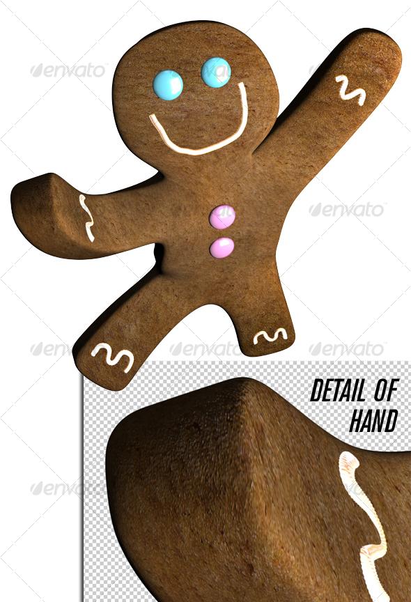 Gingerbread man dance - Objects 3D Renders