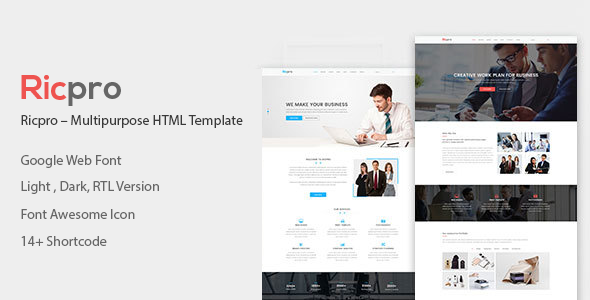Ricpro – Multipurpose HTML Template