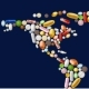 World Map Made of Pills - GraphicRiver Item for Sale