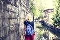 Woman Caucasian Traveler Tour Explore Canal Concept - PhotoDune Item for Sale