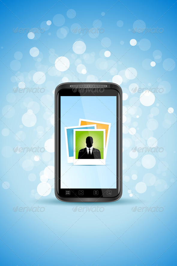 Business Background with Modern Smart-phone - Communications Technology