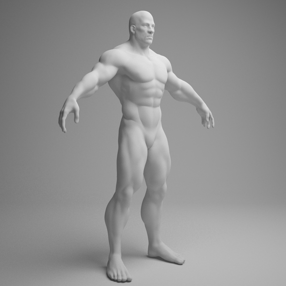 male muscular character - 3DOcean Item for Sale