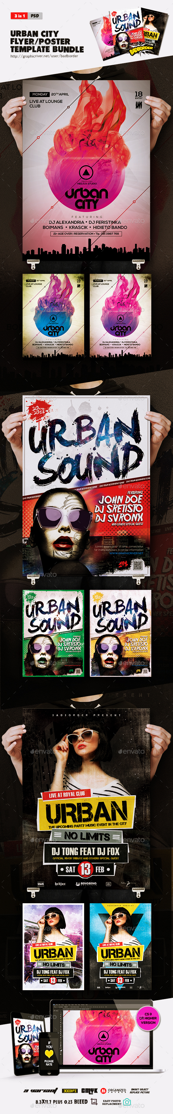 Bundle Of Urban City Flyer/Poster