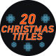 20 Christmas Titles - VideoHive Item for Sale