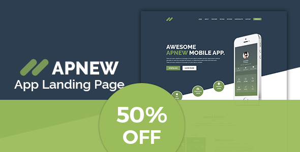Apnew - WordPress Landing Page Theme - Technology WordPress