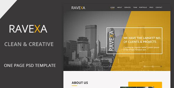 Ravexa Landing page