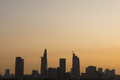 Sunset in Saigon with tower silhouette, Vietnam - PhotoDune Item for Sale