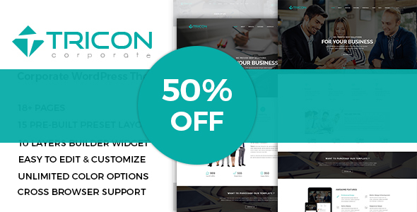 Tricon – Multipurpose WordPress Theme - Corporate WordPress