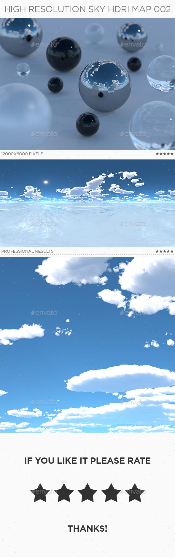 High Resolution Sky HDRi Map 002 - 3DOcean Item for Sale
