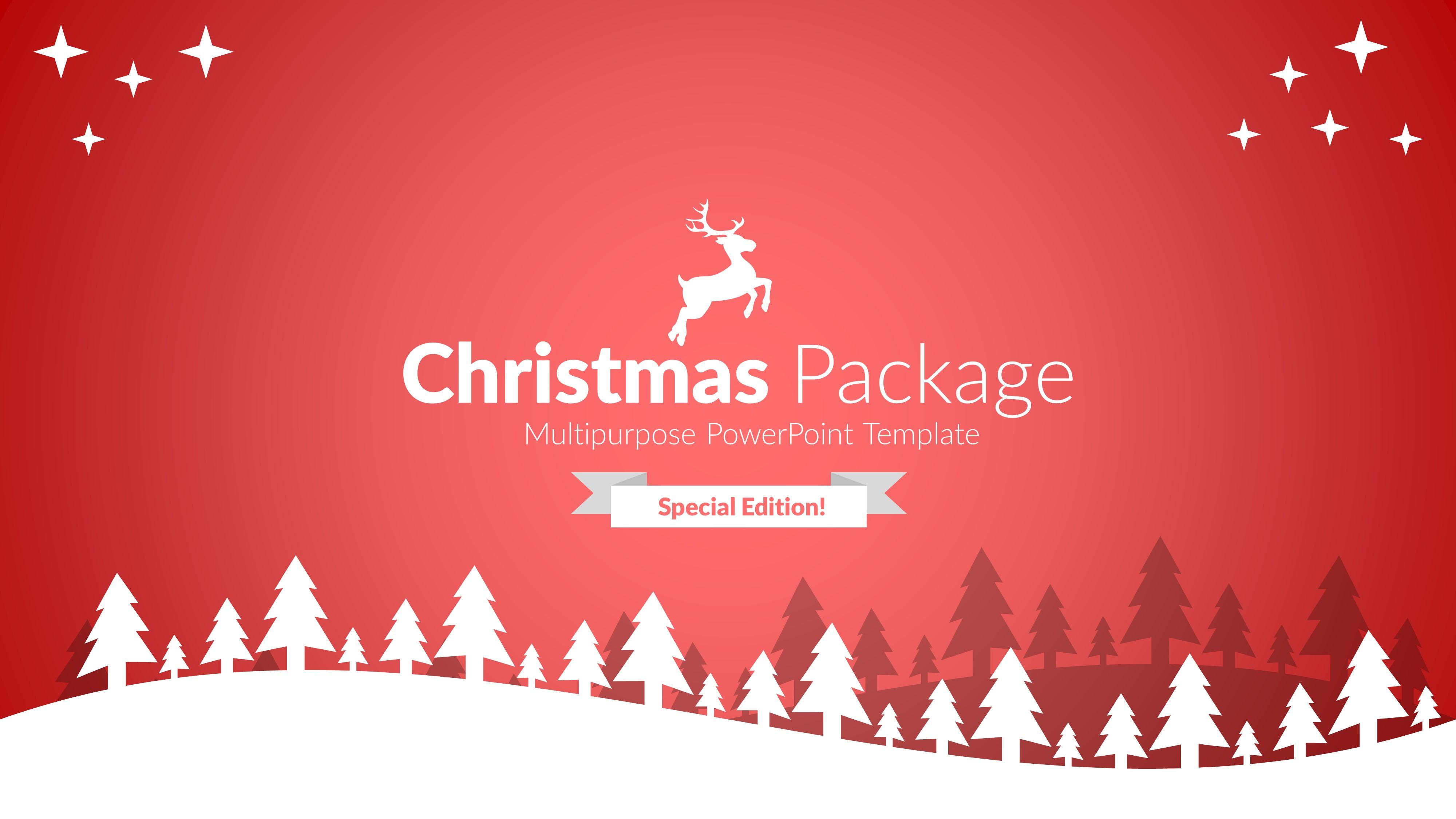 Christmas package business powerpoint template by brandearth christmas package business powerpoint template toneelgroepblik Gallery