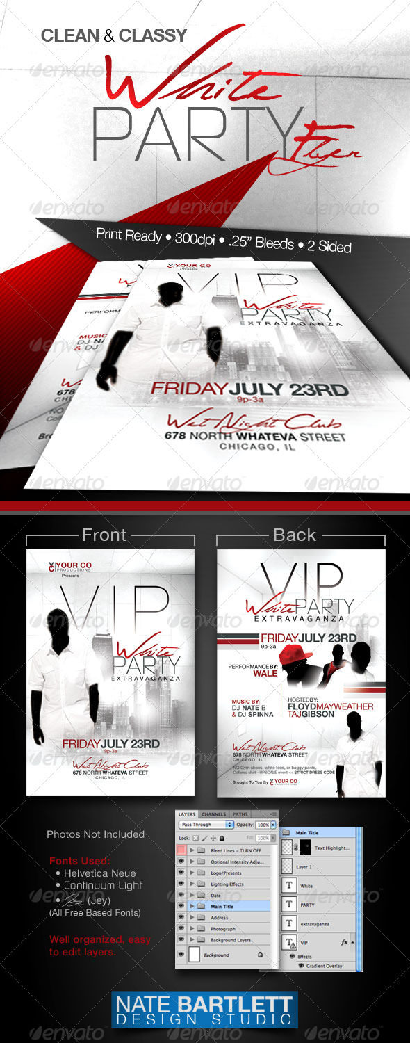 White Party Event Flyer - Clubs & Parties Events